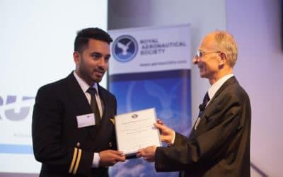 "Bartolini Air Cadet Karan Dhak from Italy has won the Royal Aeronautical Society ""Most Inspirational Cadet Pilot Award 2019"""